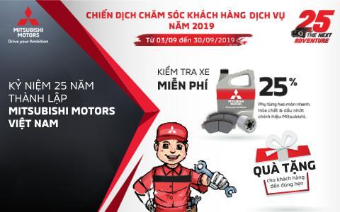Mitsubishi Motors Việt Nam triển khai chiến dịch chăm sóc khách hàng tháng 09 năm 2019.