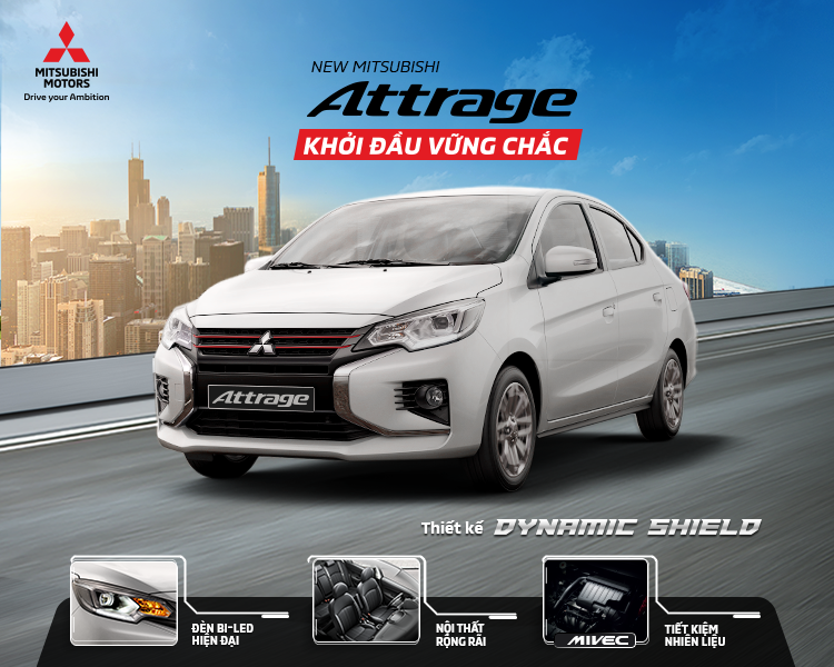 Mitsubishi Attrage 2020 – Khởi Đầu Vững Chắc, giá chỉ từ 375 triệu VNĐr