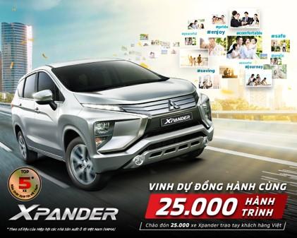 Mitsubishi Xpander xác lập doanh số bán hàng ấn tượng – 25.000 xe giao đến tay khách hàngr