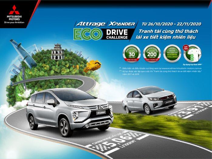 THỬ THÁCH LÁI XE TIẾT KIỆM NHIÊN LIỆU – ECO DRIVE CHALLENGE 2020 CÙNG MITSUBISHI XPANDER VÀ ATTRAGEr