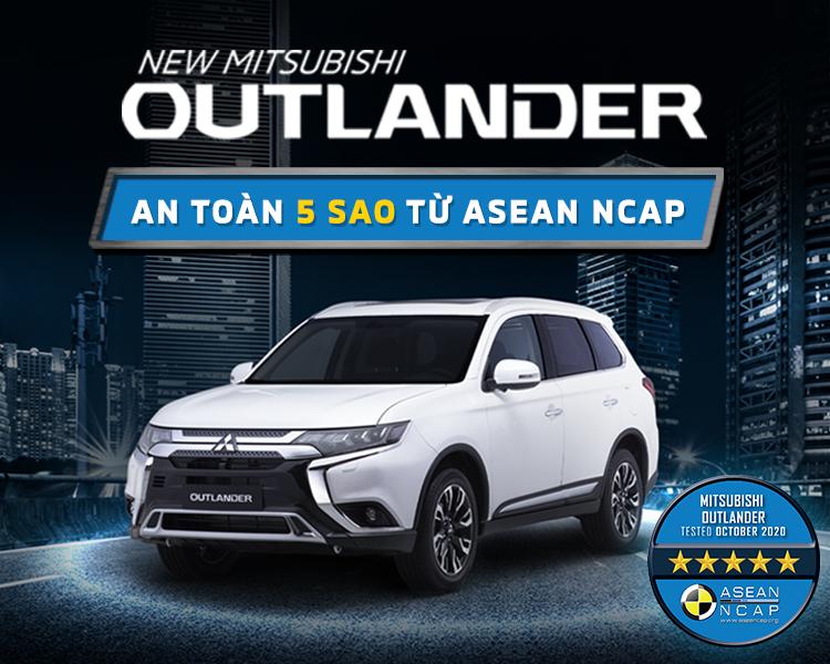 NEW MITSUBISHI OUTLANDER ĐẠT CHỨNG NHẬN TIÊU CHUẨN AN TOÀN 5 SAO ASEAN NCAPr