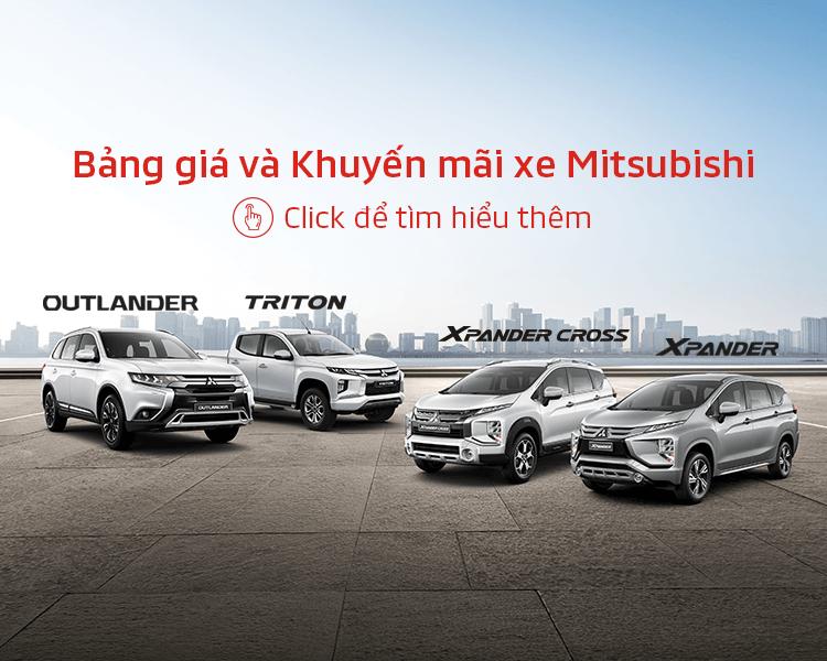Bảng giá xe Mitsubishi tháng 02/2021r