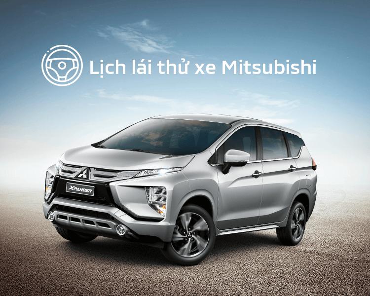Lịch trưng bày và lái thử xe Mitsubishi tháng 03/2021r
